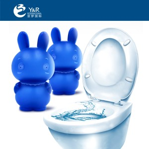 Rabbit shaped toilet bowl cleaner powder